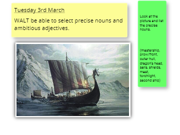 English tues 3 mar Vikings Longships Description