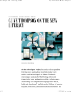 Clive Thompson New Literacy