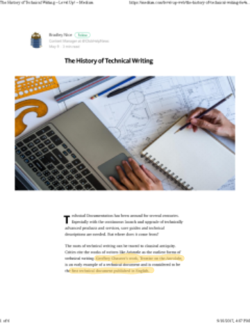 Nice The History of Technical Writing