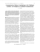 Communication Failures Contributing to The Challenger Accident