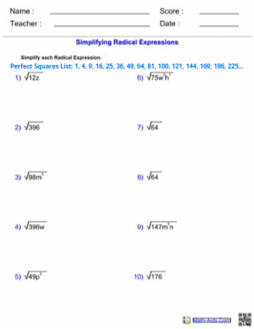 VIDEO: Simplifying Radical Expressions Review