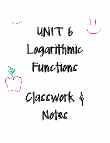 Unit 6: Logarithms Notes
