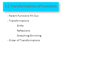 2.5 Transformations of Functions  PC