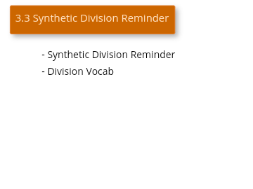 Synthetic Division Review Video