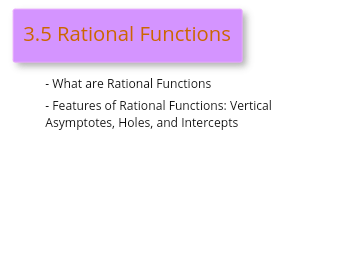 3.5 Rational Functions Video